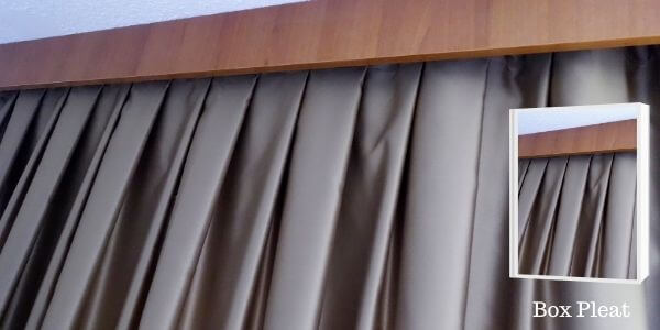 Box Pleat Drapery Curtains