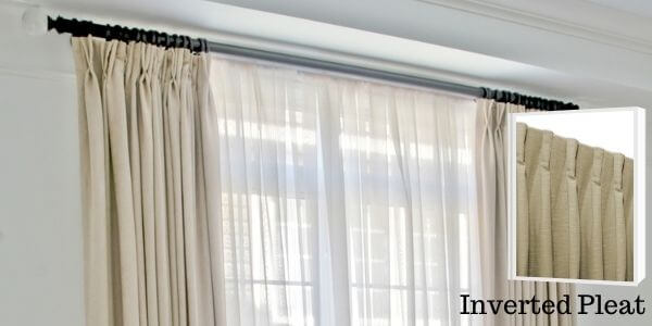 Inverted Pleat Drapery Curtains