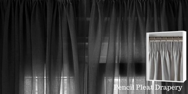 Pencil Pleat Drapery