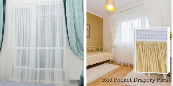 Rod Pocket Drapery Pleat